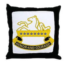DUI - 6th Sqdrn - 8th Cavalry Regt Throw Pillow