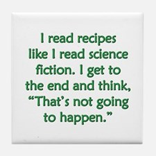 Science Fiction Recipes Tile Coaster