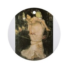 The Lady of Shalott Looking a Ornament (Round)