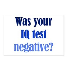 Negative IQ Test Postcards (Package of 8)