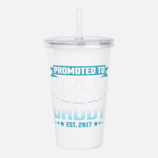 Promoted To Daddy Est. Acrylic Double-wall Tumbler