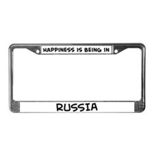 Happiness is Russia License Plate Frame