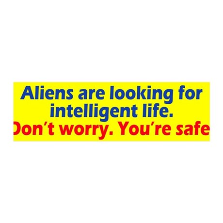 Aliens Looking 36x11 Wall Decal
