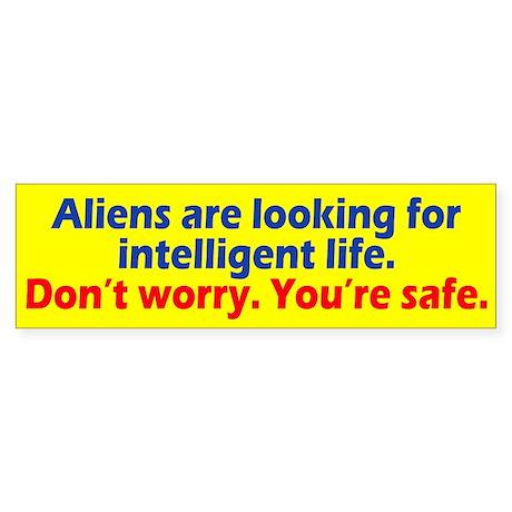 Aliens Looking Sticker (Bumper)