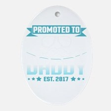 Promoted To Daddy Est. 2017 Oval Ornament