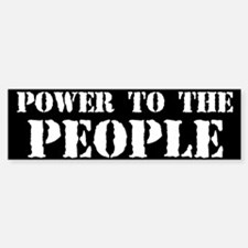 Power to the People Bumper Bumper Sticker