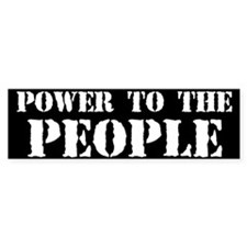 Power to the People Car Sticker