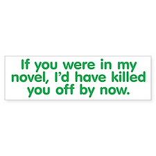 In My Novel - Writer Car Sticker