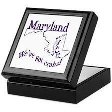 Vintage Maryland Keepsake Box