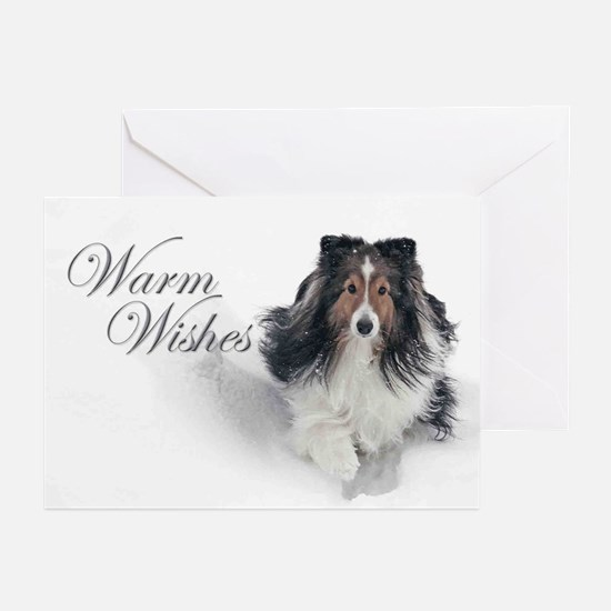 Warm Wishes Sheltie Xmas Cards (Pk of 20)