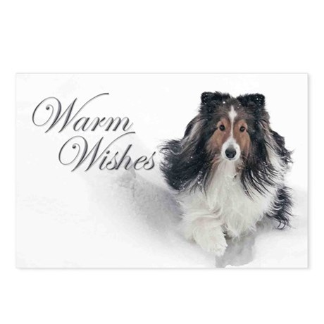 Warm Wishes Sheltie Postcards (Package of 8)