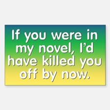 In My Novel - Writer Sticker (Rectangle)