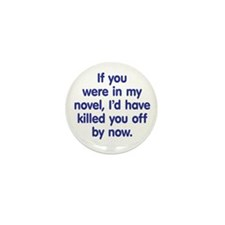 In My Novel - Writer Mini Button