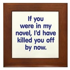 In My Novel - Writer Framed Tile