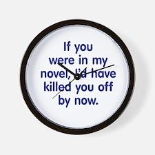 In My Novel - Writer Wall Clock