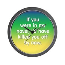 In My Novel - Writer Wall Clock