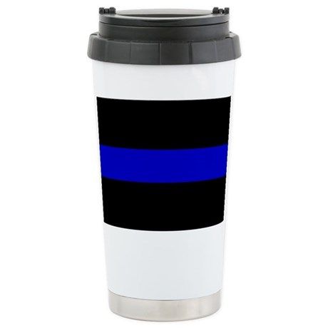 Thin Blue Line Stainless Steel Travel Mug