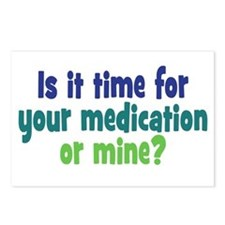 Your Meds or Mine? Postcards (Package of 8)