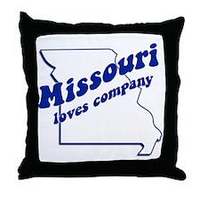Vintage Missouri Throw Pillow