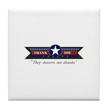 Thank You Troops Tile Coaster