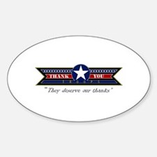 Thank You Troops Decal
