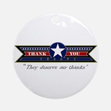 Thank You Troops Ornament (Round)