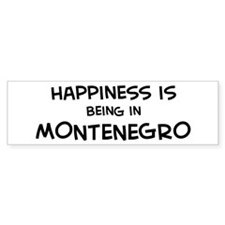 Happiness is Montenegro Bumper Bumper Sticker