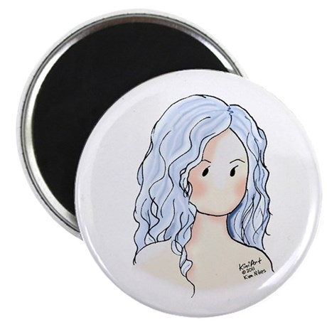 "Silver Hair Beauty 2.25"" Magnet (10 pack)"
