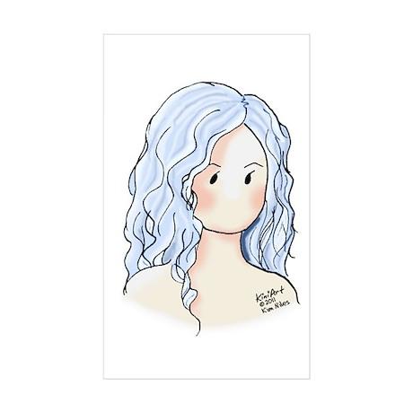 Silver Hair Beauty Sticker (Rectangle 10 pk)