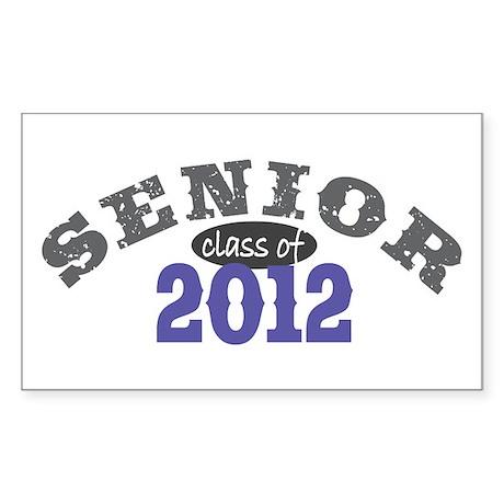 Senior Class of 2012 Sticker (Rectangle 50 pk)