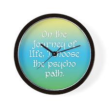 Psycho Journey of Life Wall Clock