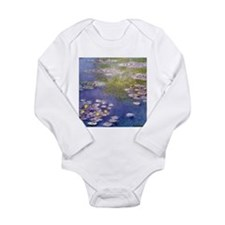 Nympheas at Giverny Long Sleeve Infant Bodysuit