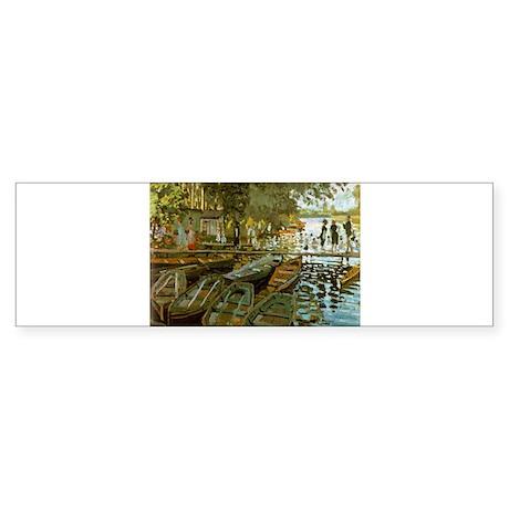Bathing at La Grenouillere Sticker (Bumper)