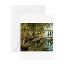 Bathing at La Grenouillere Greeting Card