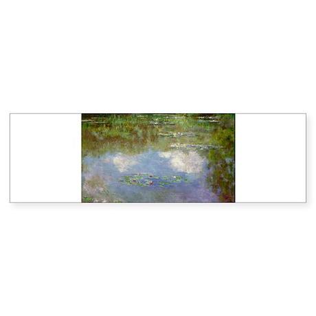 Water Lillies (The Clouds) Sticker (Bumper)