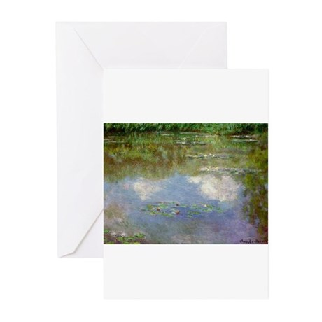Water Lillies (The Clouds) Greeting Cards (Pk of 2
