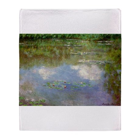 Water Lillies (The Clouds) Throw Blanket
