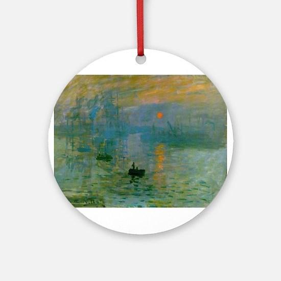 Impression, Sunrise Ornament (Round)