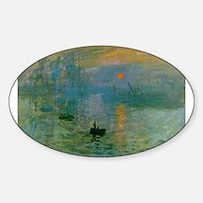 Impression, Sunrise Sticker (Oval)