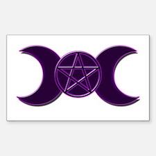 Triple Goddess Sticker (Rectangle)