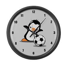 I Like Soccer Large Wall Clock