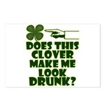 Does This Clover Make Me Look Drunk? Postcards (Pa