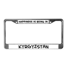 Happiness is Kyrgyzstan License Plate Frame