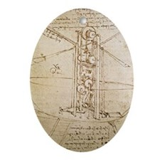 Design for Flying Machine Ornament (Oval)