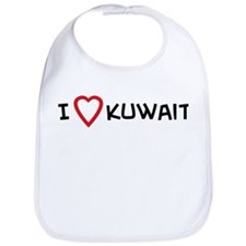 I Love Kuwait Bib