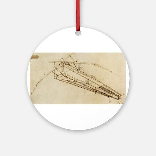 Flying Machine Ornament (Round)