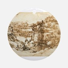 Landscape Drawing Ornament (Round)