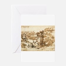Landscape Drawing Greeting Card