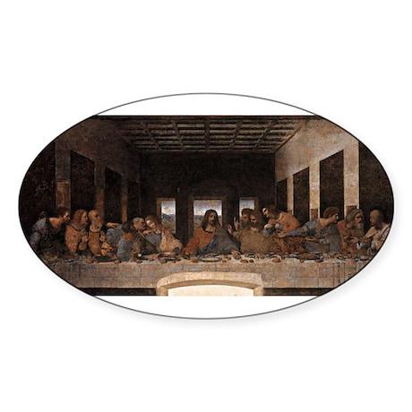 Last Supper Sticker (Oval 10 pk)