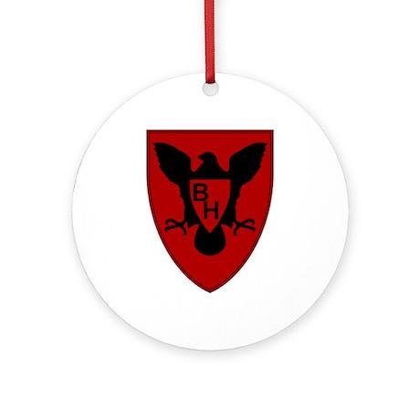 Blackhawk Ornament (Round)